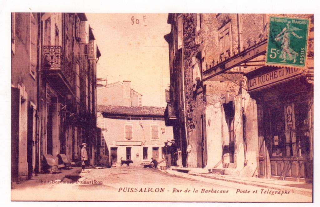 PUISSALICON – Rue de la Barbican Poste et Télégraphes Edit Bezombes Puissalicon